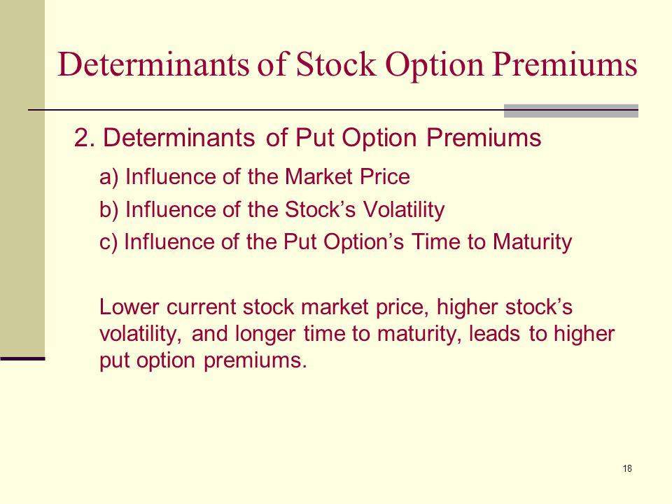 18 Determinants of Stock Option Premiums 2.