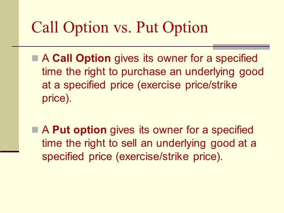 Call Option vs.