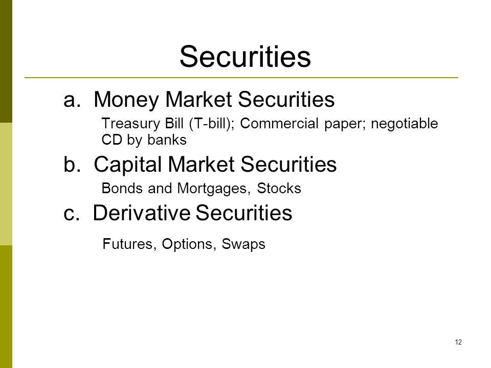12 Securities a.