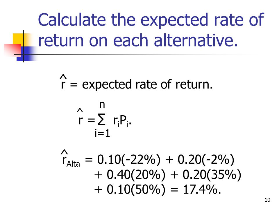 11 Alta has the highest rate of return.Does that make it the best.