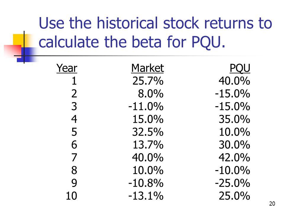 21 Calculating Beta for PQU