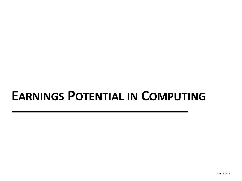 June 12, 2012 E ARNINGS P OTENTIAL IN C OMPUTING