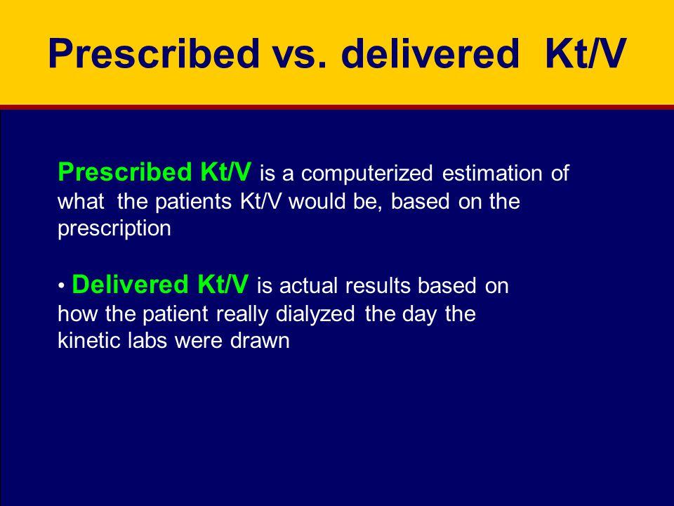 Prescribed vs.