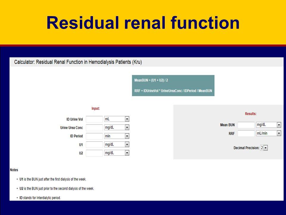 Residual renal function