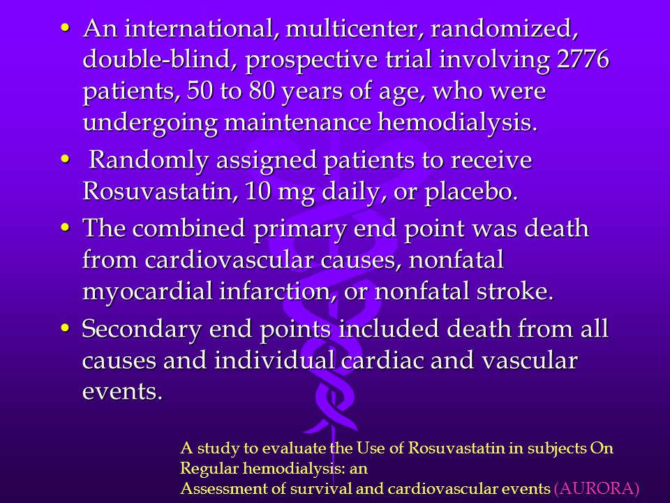 An international, multicenter, randomized, double-blind, prospective trial involving 2776 patients, 50 to 80 years of age, who were undergoing mainten