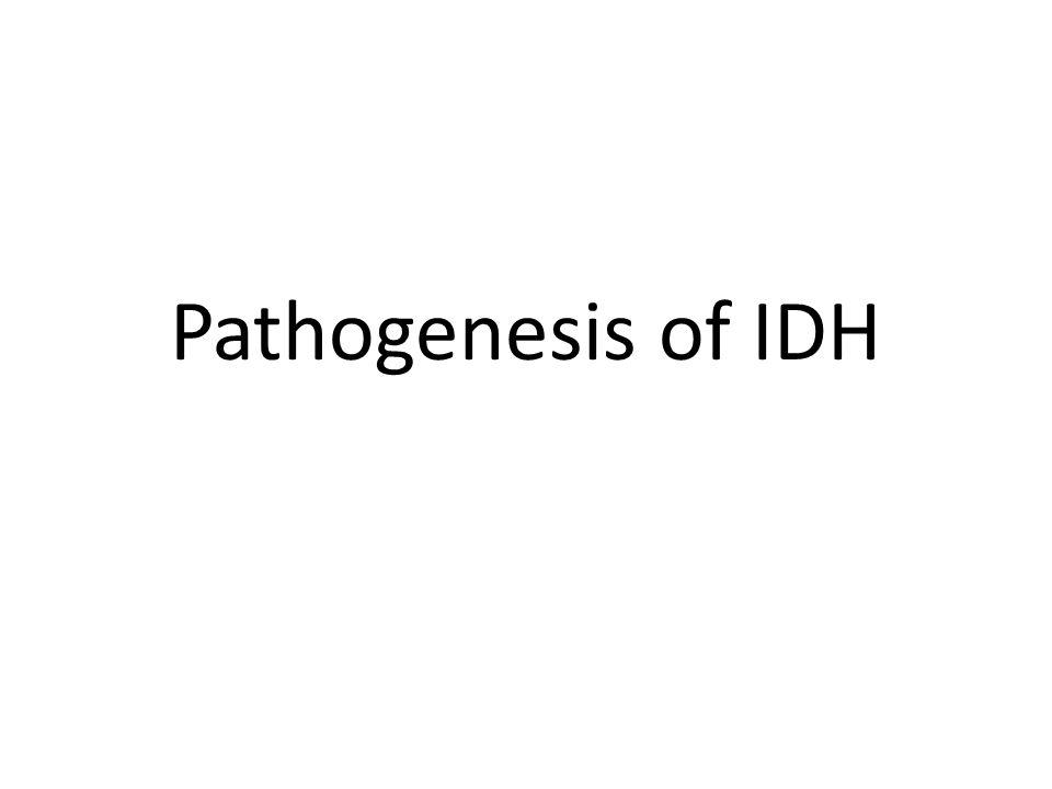 Pathogenesis of IDH