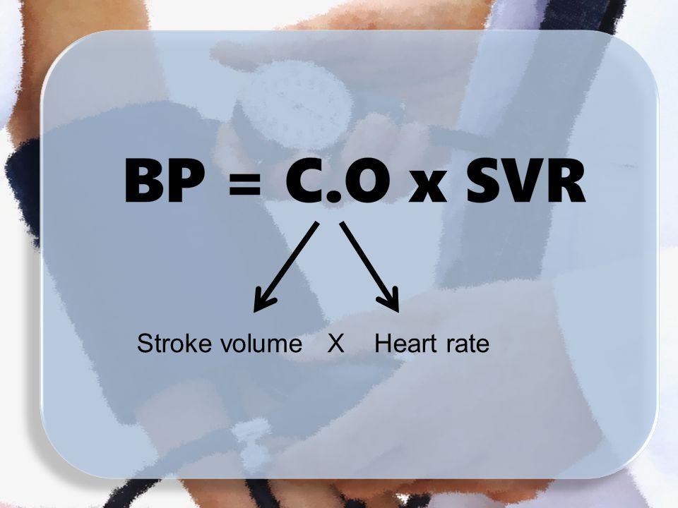Stroke volume X Heart rate