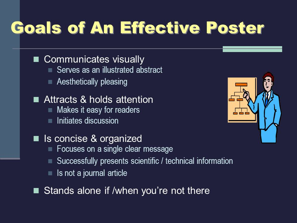 Know Poster Session Rules Size of poster: 3 x 5 (light weight paper, no mounting) Display environment: Assigned board; tape poster onto boards Length of poster session: 2 hours (6-8 PM on November 15) When is set-up time.