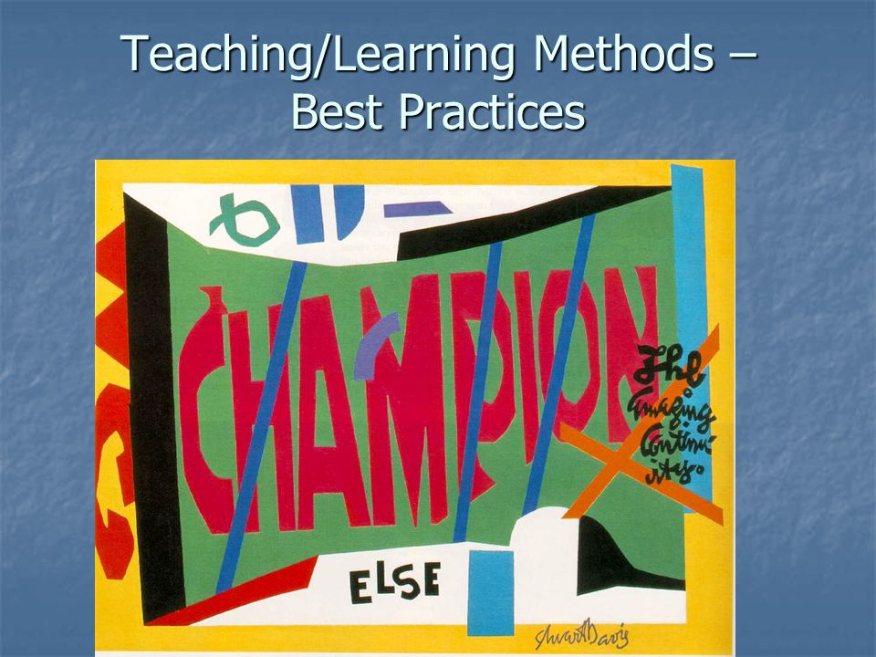 Teaching/Learning Methods – Best Practices