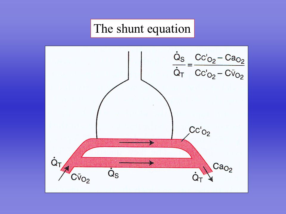 The shunt equation