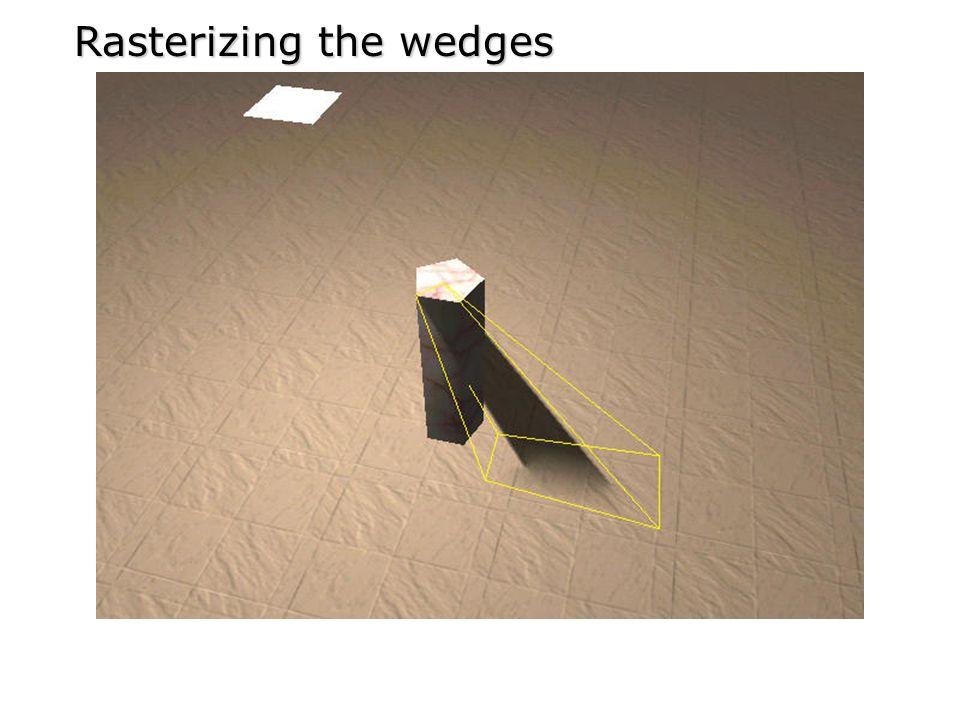 Rasterizing the wedges