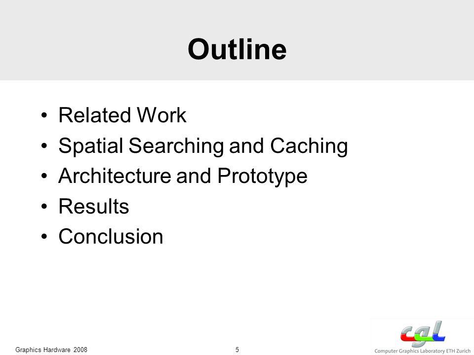 Related Work Kd-Tree [Bentley 75] Graphics Hardware 2008 6 kNN on GPUs [Ma and McCool 02] Kd-Tree Hardware [Woop et al.