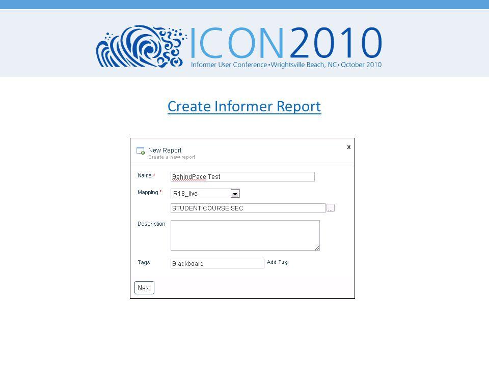 Create Informer Report