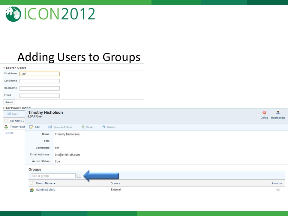 Adding Users to Groups