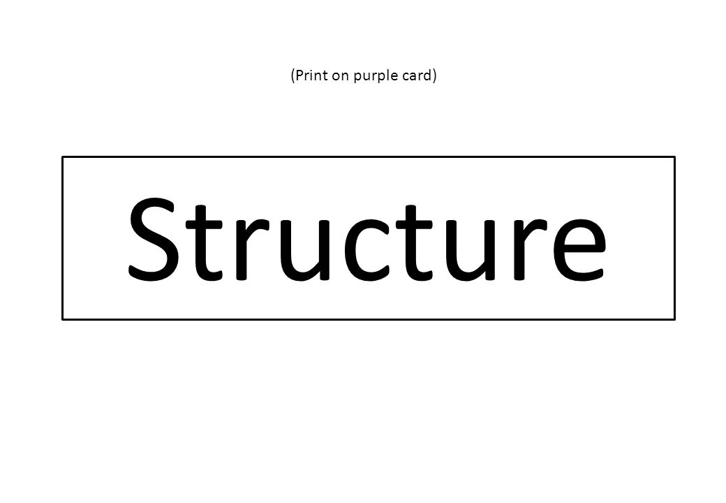 Structure (Print on purple card)