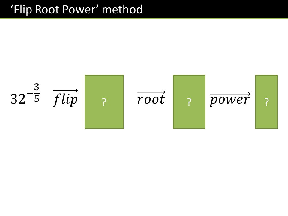 'Flip Root Power' method ???