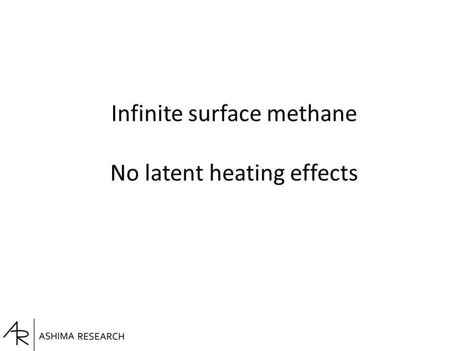 Infinite surface methane No latent heating effects
