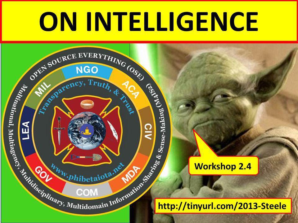 Intelligence for Peace & Prosperity