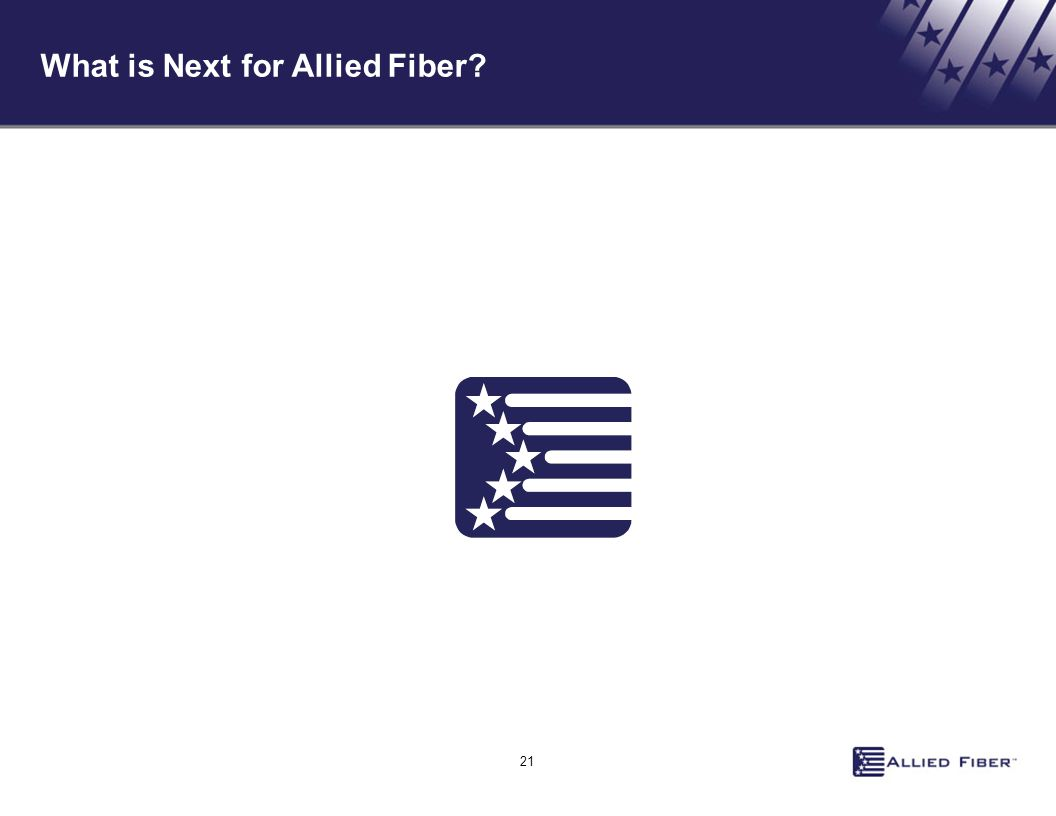 21 What is Next for Allied Fiber?