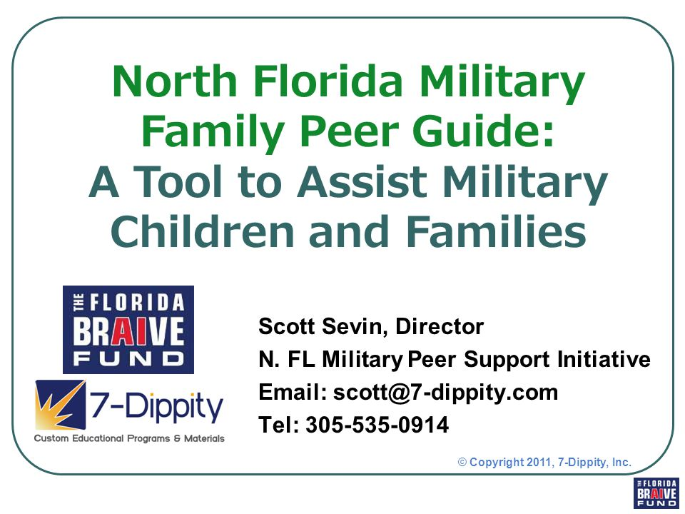 The Military Family Peer Guide can be a very powerful tool for schools – for educational and support purposes: When conducting cultural competency trainings for schools: Can be used as a focal point for competency trainings for school staff.