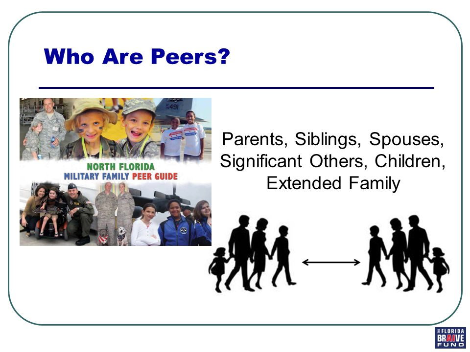Parents, Siblings, Spouses, Significant Others, Children, Extended Family Who Are Peers