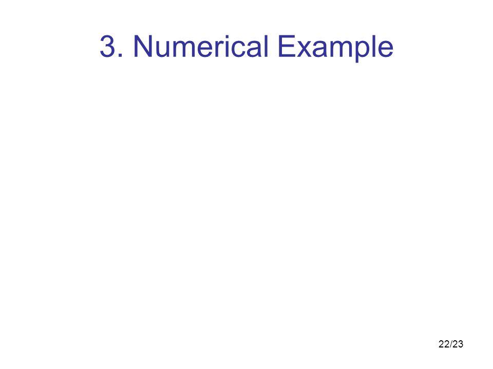22/23 3. Numerical Example