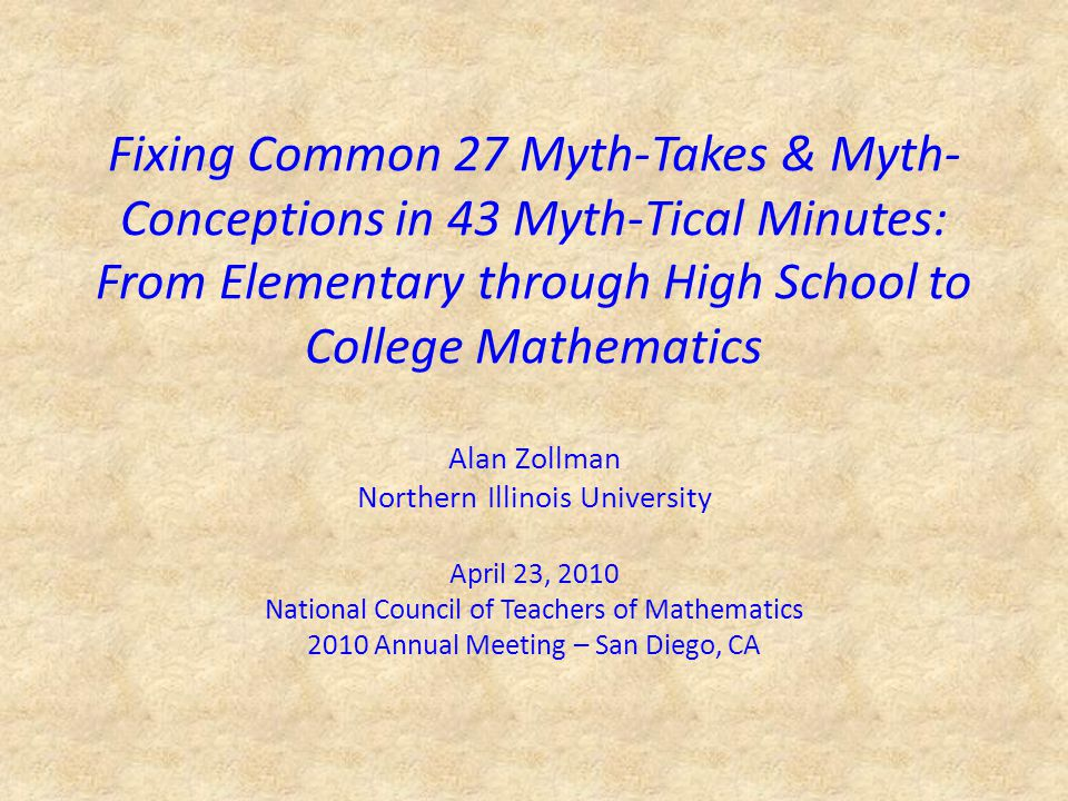 Algebra and Geometry Myth: A square in algebra is different than a square in geometry.