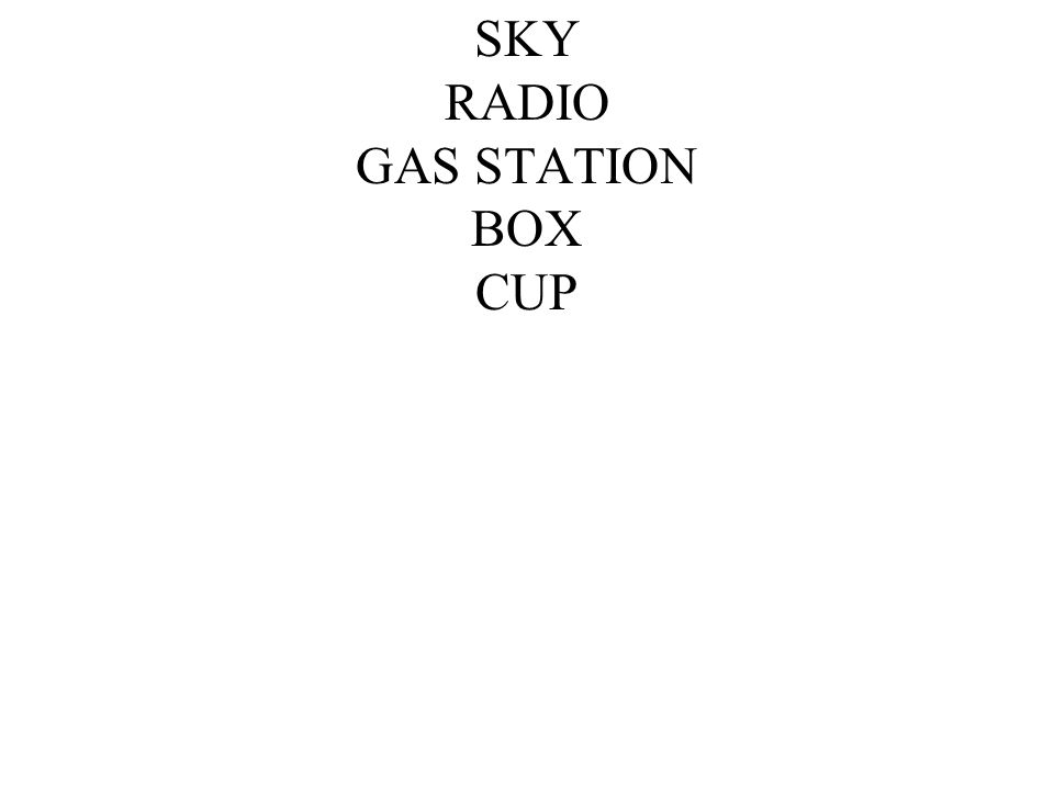 SKY RADIO GAS STATION BOX CUP