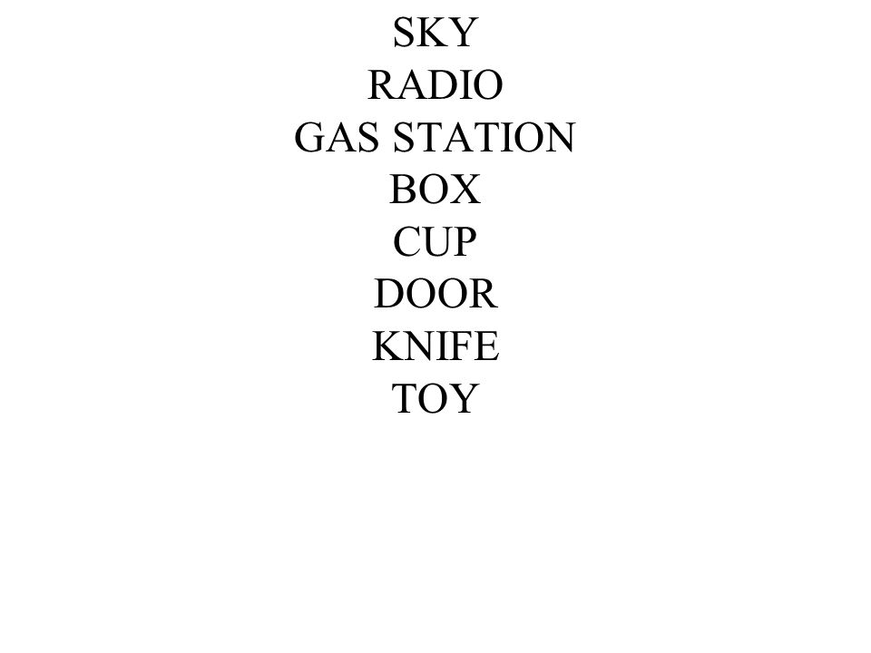 SKY RADIO GAS STATION BOX CUP DOOR KNIFE TOY