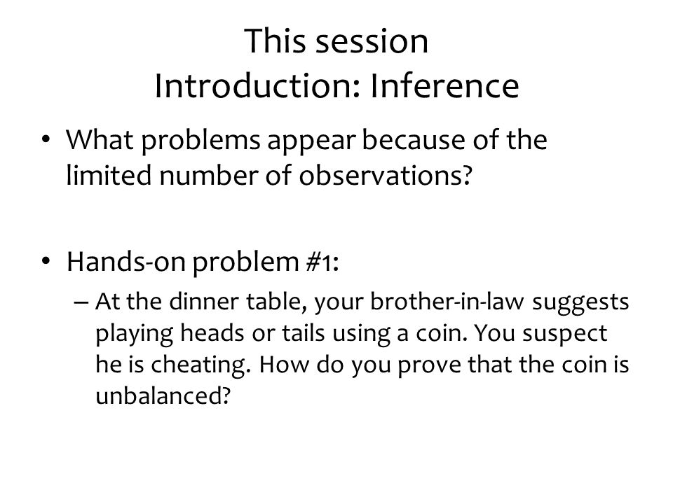 2. CENTRAL LIMIT THEOREM Session 2 - Inference