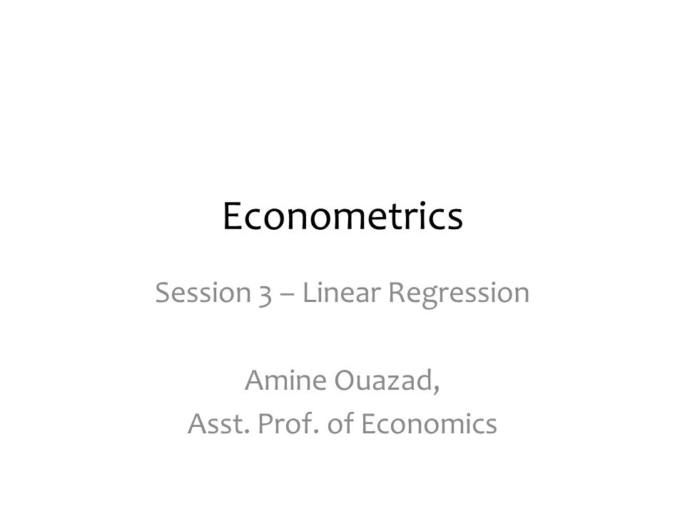 NEXT SESSIONS … LOOKING FORWARD Session 3 – Linear Regression