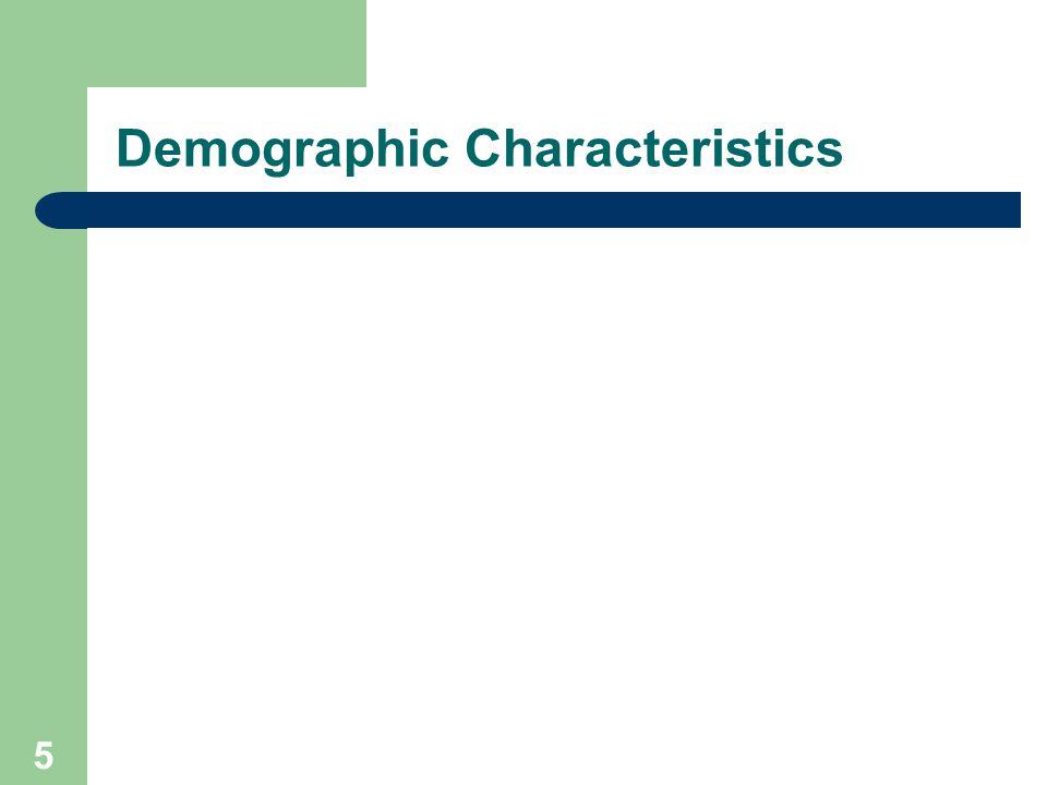 5 Demographic Characteristics