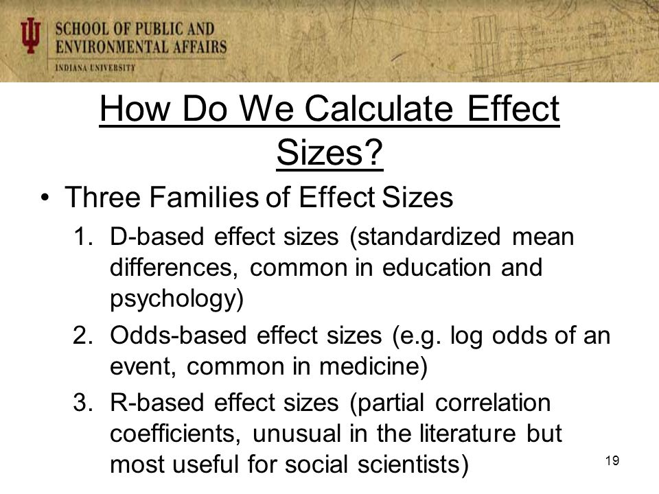 How Do We Calculate Effect Sizes.