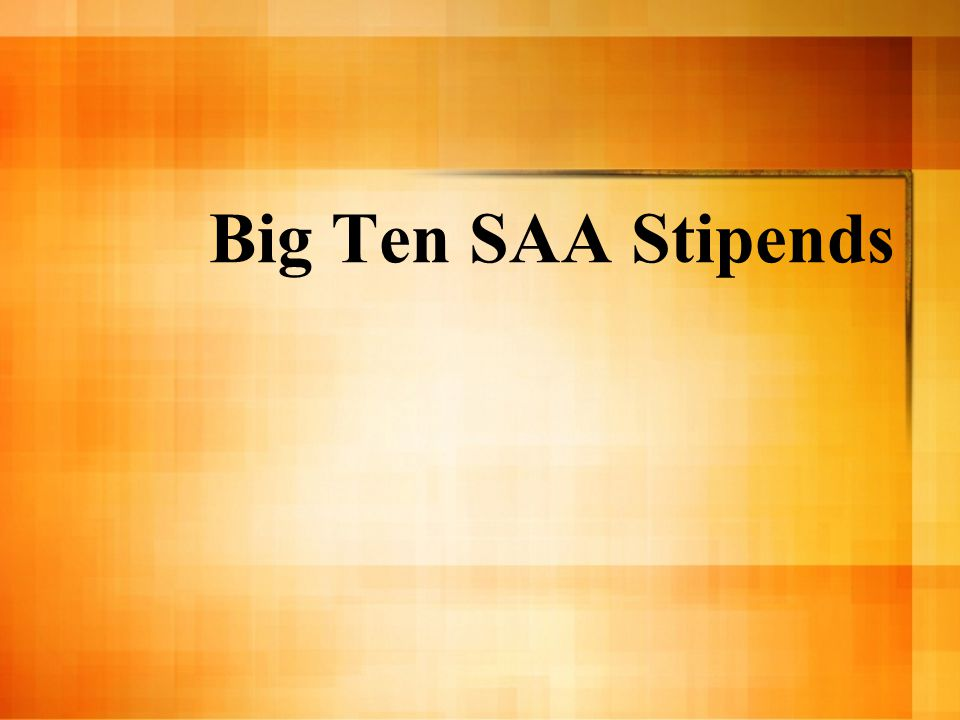 Big Ten SAA Stipends