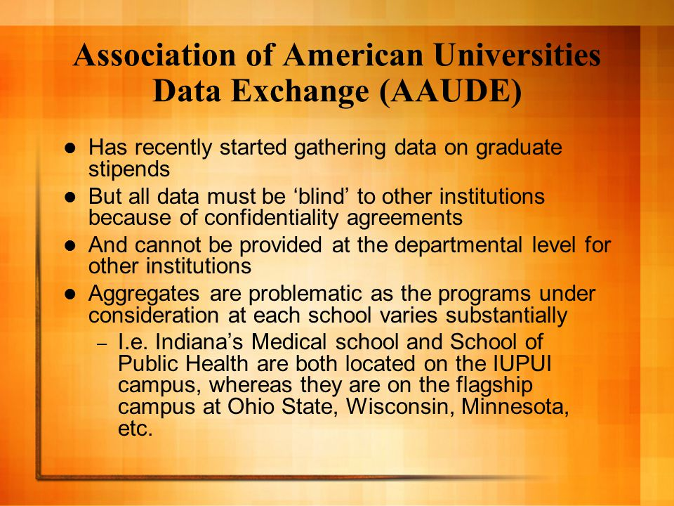 Data that we do have … … has been collected from: – Unions – Administrators – AAUDE – Information that is available online (I.e.