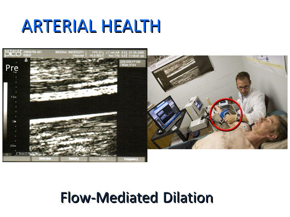 ARTERIAL HEALTH Flow-Mediated Dilation Pre