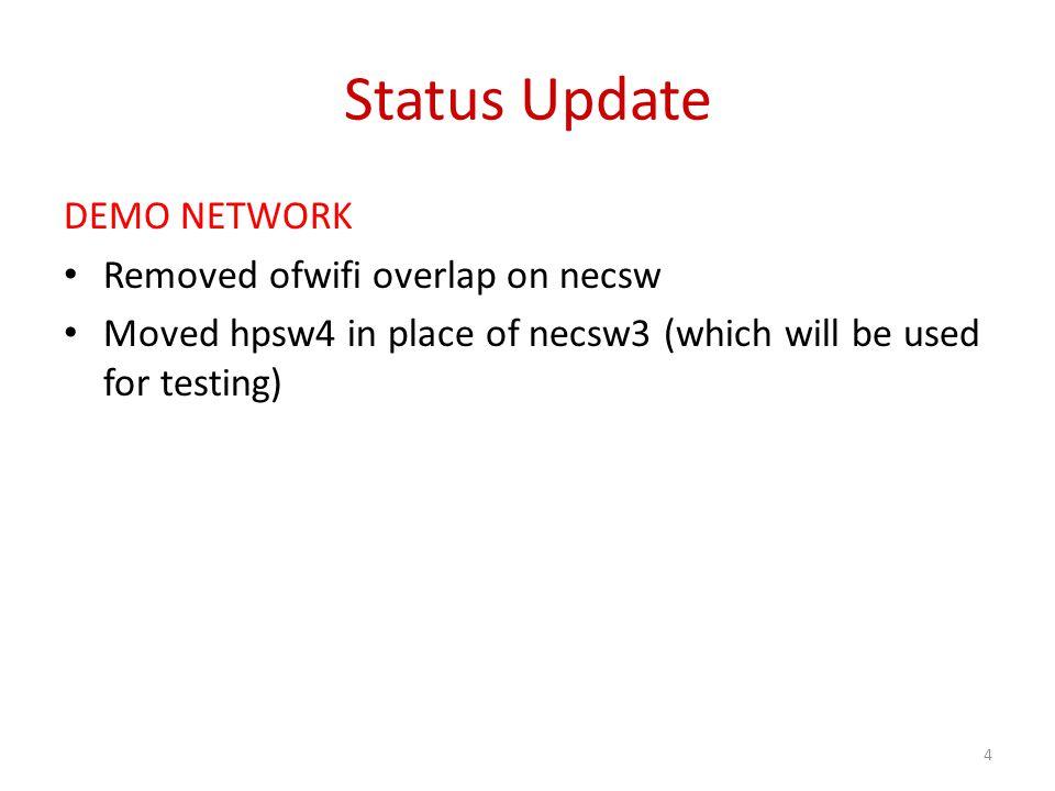 Status Update WIRELESS New flowvisor has reduced flow setup time.