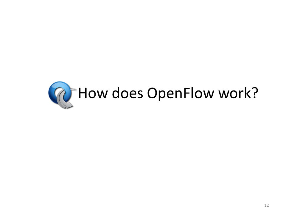 How does OpenFlow work? 12