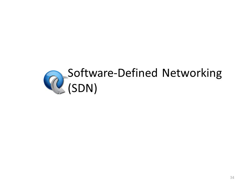 Software-Defined Networking (SDN) 34