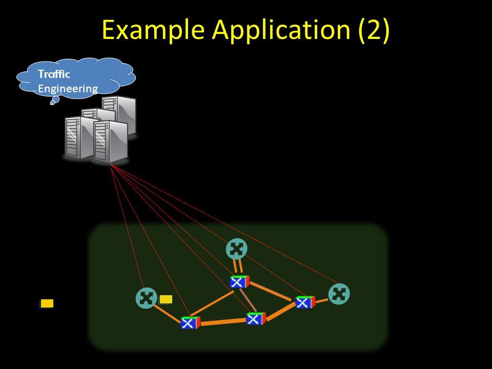 Traffic Engineering Example Application (2)