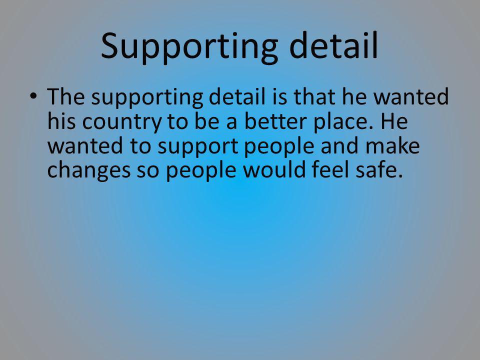 Supporting detail President John F.