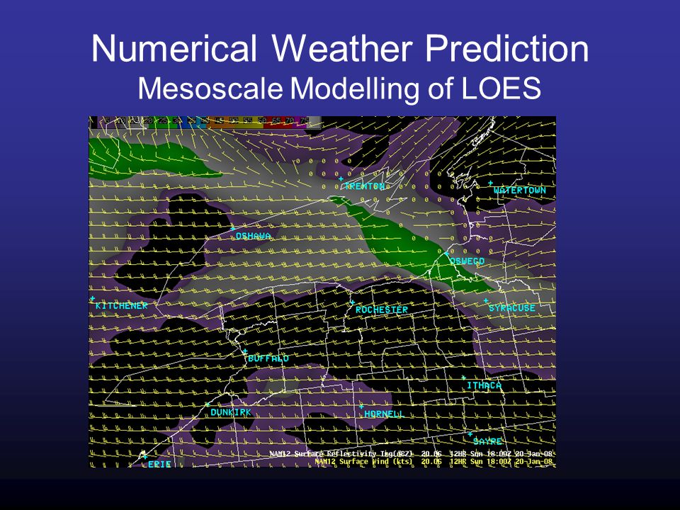 Numerical Weather Prediction Mesoscale Modelling of LOES