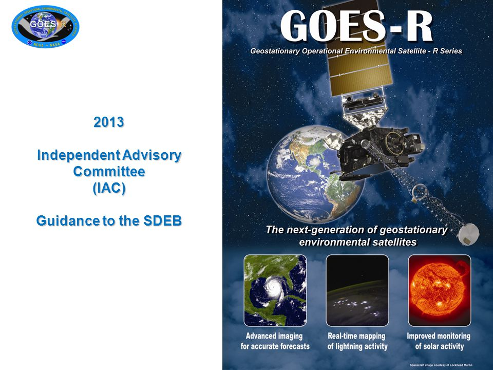 2013 Independent Advisory Committee (IAC) Guidance to the SDEB