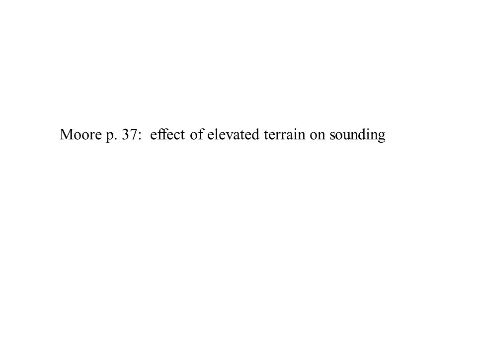 Moore p. 37: effect of elevated terrain on sounding