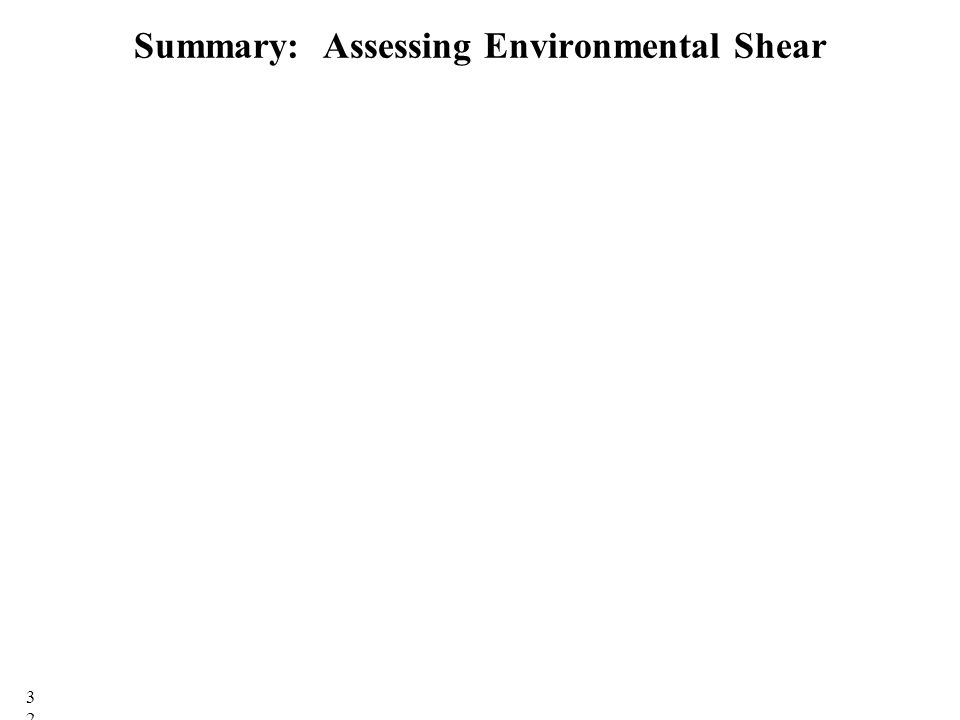 Summary: Assessing Environmental Shear 32