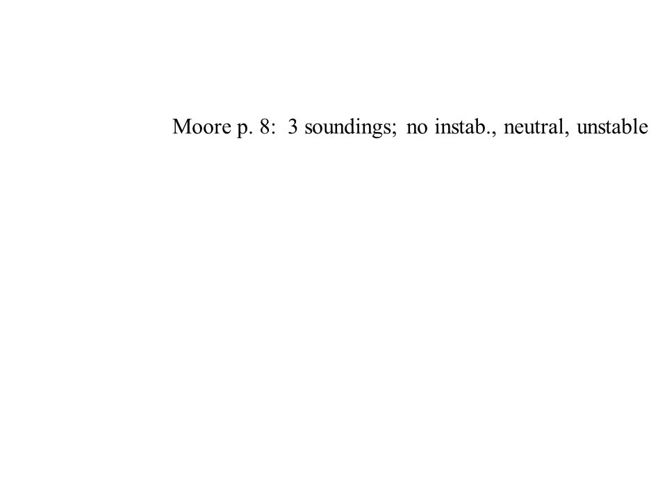 Moore p. 8: 3 soundings; no instab., neutral, unstable