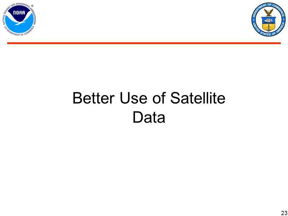 23 Better Use of Satellite Data