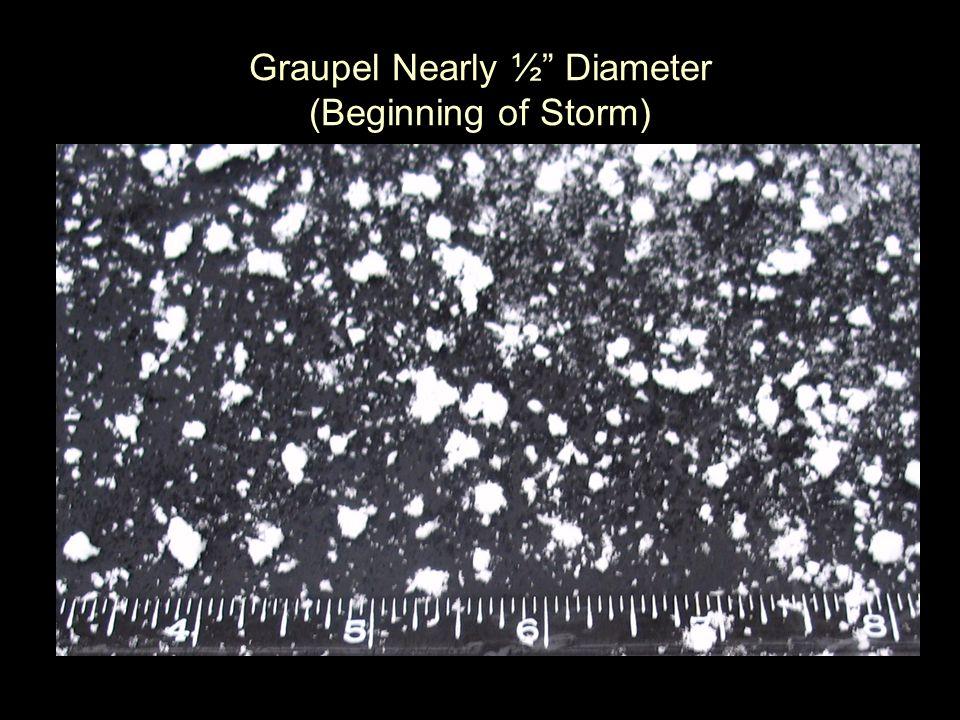 "Graupel Nearly ½"" Diameter (Beginning of Storm)"