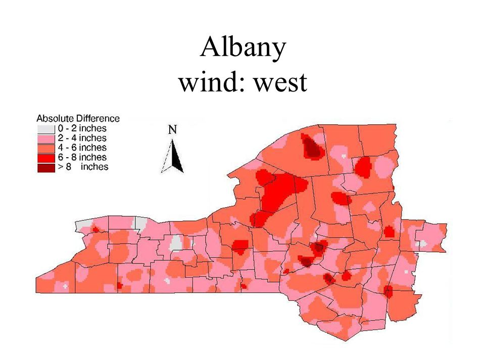 Albany wind: west