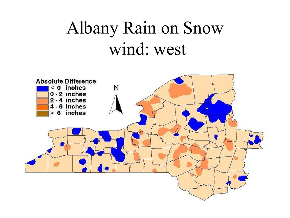 Albany Rain on Snow wind: west